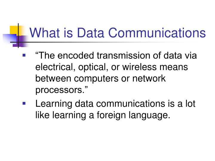 What is Data Communications
