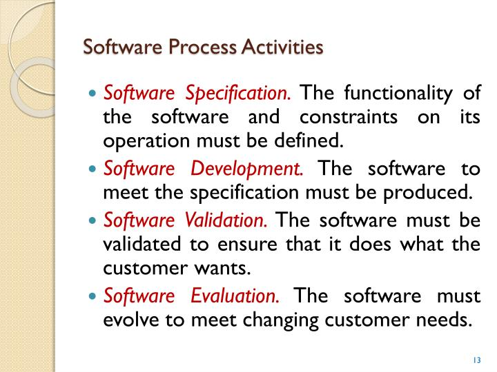 Software Process Activities
