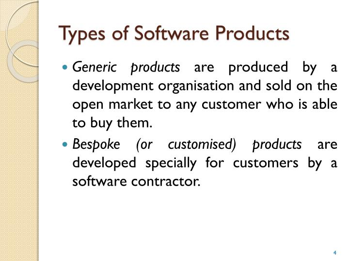 Types of Software Products