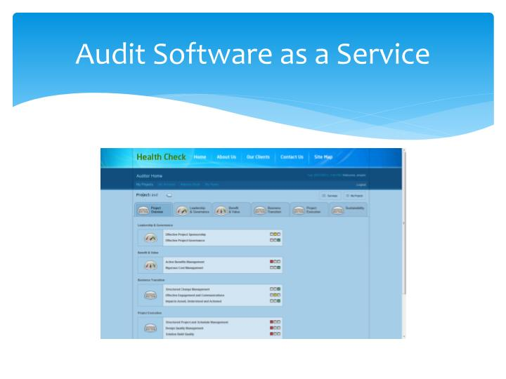 Audit Software as a Service