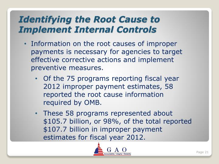 Identifying the Root Cause to Implement Internal Controls