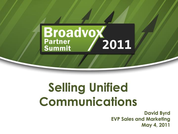 selling unified communications n.