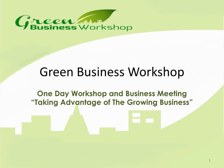 green business workshop n.