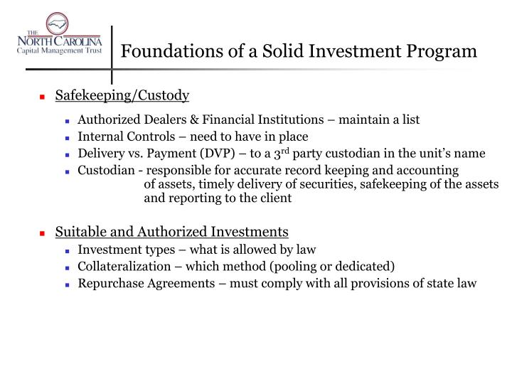 Foundations of a Solid Investment Program