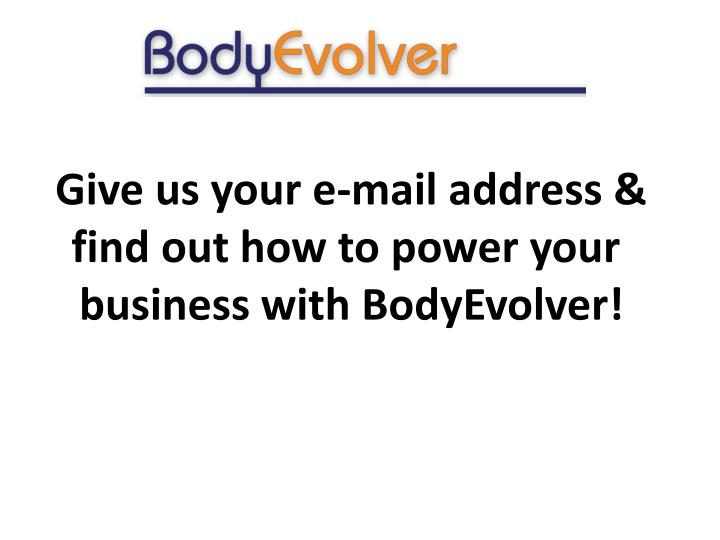 Give us your e-mail
