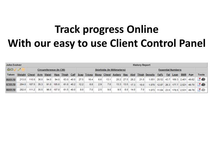 Track progress Online
