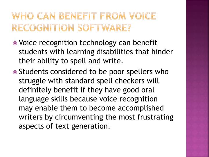 Who Can Benefit from Voice Recognition Software?