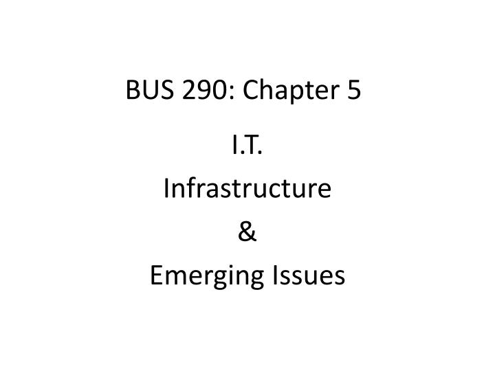 Bus 290 chapter 5