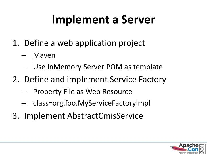 Implement a Server