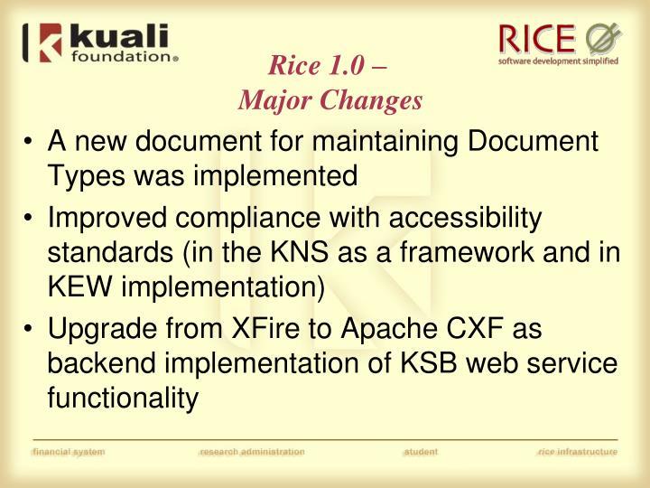 Rice 1.0 –