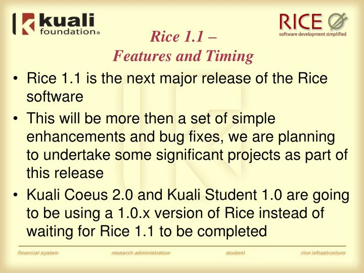 Rice 1.1 –