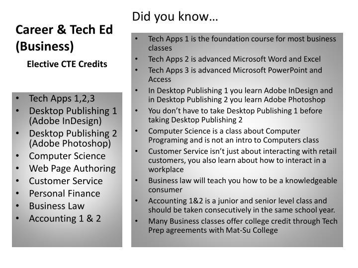 Career tech ed business