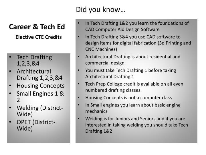 Career tech ed