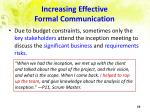 increasing effective formal communication