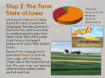 stop 2 the farm state of iowa