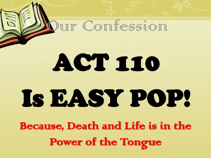 Act 110 is easy pop