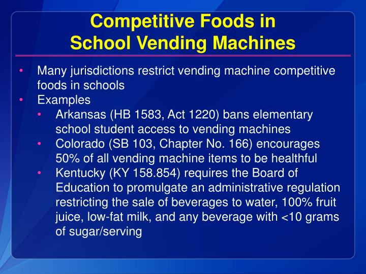 Competitive Foods in