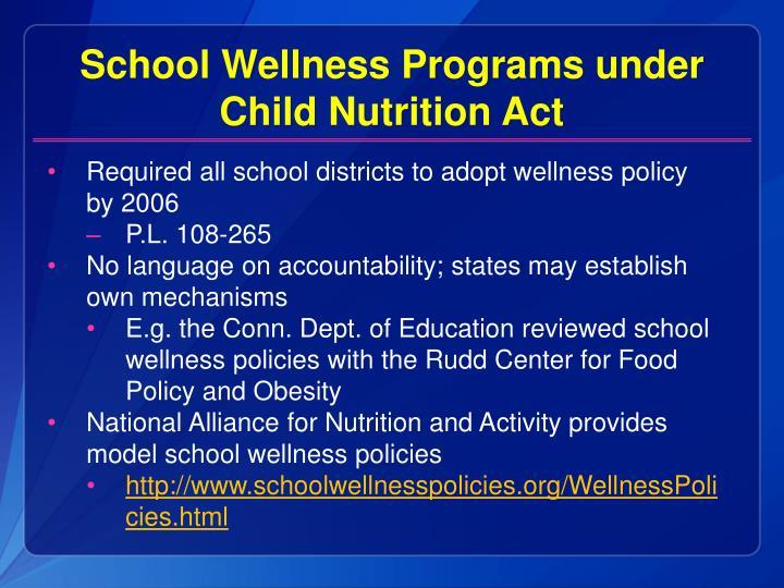 School Wellness Programs under