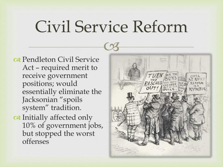 Thesis on civil service reform