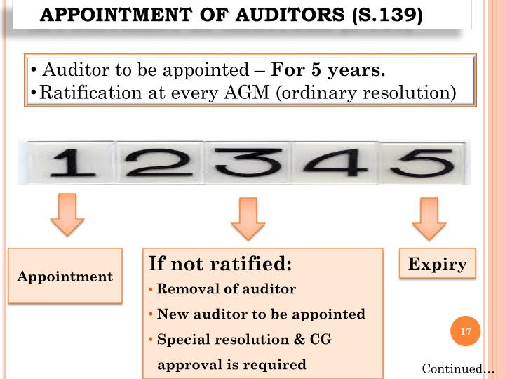 removal of auditor