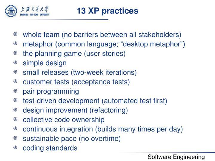 13 XP practices