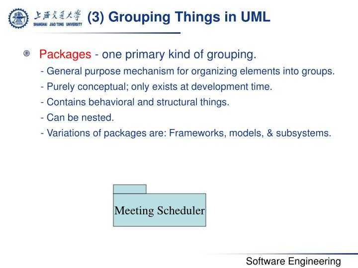 (3) Grouping