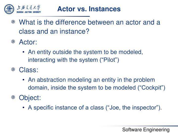 Actor vs. Instances