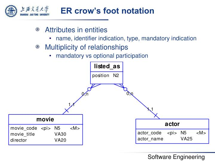 ER crow's foot notation