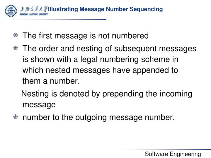 Illustrating Message Number Sequencing