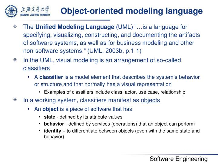 Object-oriented modeling language