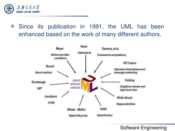 Since its publication in 1991, the UML has been enhanced based on the work of many different authors.