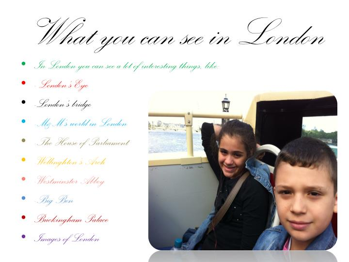 what you can see in london n.