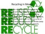 recycling in mexico