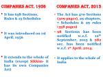 companies act 1956 companies act 2013