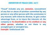 definition of fraud sec 447