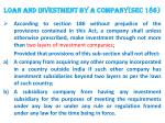 loan and investment by a company sec 186