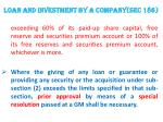 loan and investment by a company sec 1862