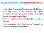 loan existing on 12 sep repay on due dates