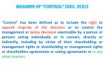 meaning of control sec 2 g