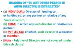 meaning of to any other person in whom director is interested