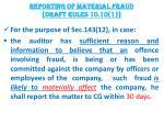 reporting of material fraud draft rules 10 10 1
