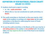 reporting of non material fraud draft rules 10 10 3