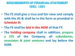 requirements of financial statement sec 129