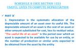 schedule ii see section 123 useful lives to compute depreciation