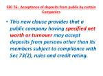 sec 76 acceptance of deposits from public by certain companies