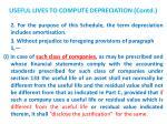 useful lives to compute depreciation contd