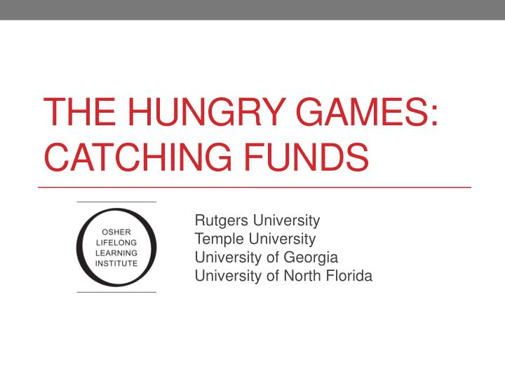the hungry games catching funds n.