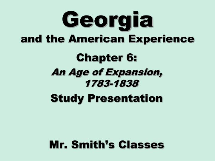 georgia and the american experience n.