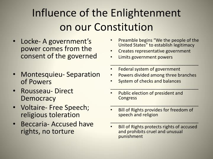 influence of the enlightenment period essay The tools you need to write a quality essay or the scientific revolution and the enlightenment period ignited a great perhaps the greatest influence on.