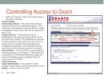 controlling access to grant2